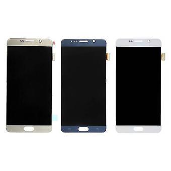 Roba Certified® Samsung Galaxy Nota N9200 5 / N920A / N920T / N920V / N920P schermo (Touchscreen + LCD + parti) AAA + qualità - bianco / blu / oro