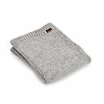 Tweedmill gebreide Alpaca Mix Throw - grijs