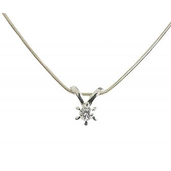 Cavendish French Sterling Silver and CZ Shooting Star Pendant without Chain
