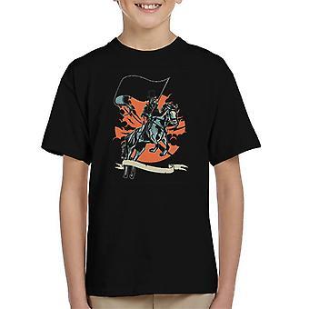 Plague Doctor ridning häst Kid's T-Shirt