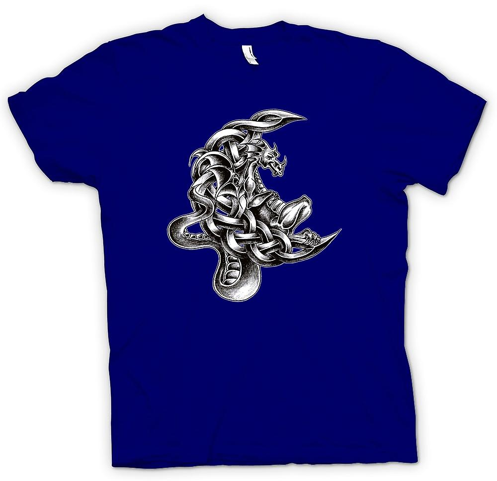 Herr T-shirt - Dragon Tattoo - Design Sketch