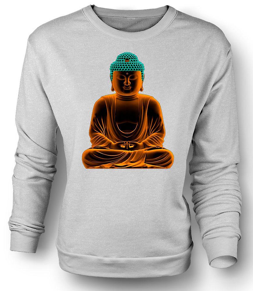 Bouddha d'or serein Mens Sweatshirt - spirituel