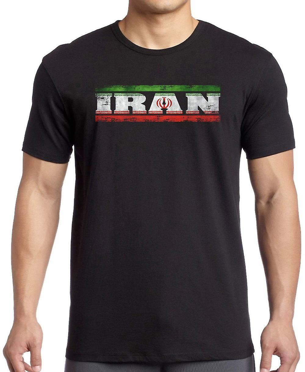 Iran Iranian Flag - Words T Shirt  - 5xl