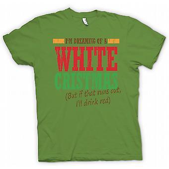 Im Dreaming Of A White Christmas - Funny Christmas  - 100% Cotton Short Sleeve Mens T Shirt