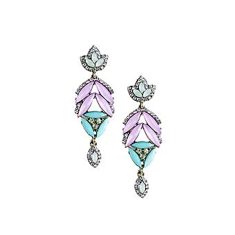 Lovemystyle Earrings with Diamante Detail and Pastel Stones