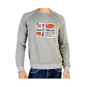 Napapijri Grey Crew Neck Sweatshirt