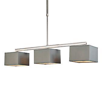 QAZQA Pendant Lamp VT 3 vierkante grijs