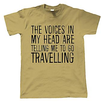 Voices In My Head Go Travelling, Mens T Shirt