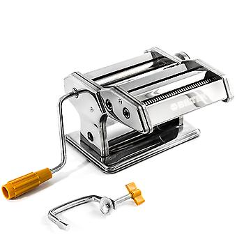 Pasta Maker Machine - Stainless Steel Hand Crank Cutter & Roller for Fresh Pasta