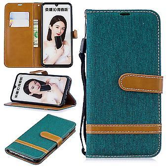 Huawei P Smart 2019 Handy-Hülle Schutz-Tasche Case Cover Kartenfach Etui Wallet Grün