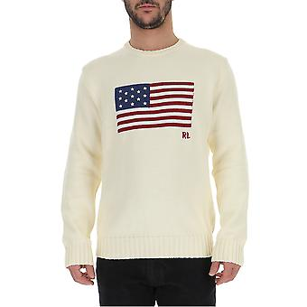 Ralph Lauren White Cotton Sweater