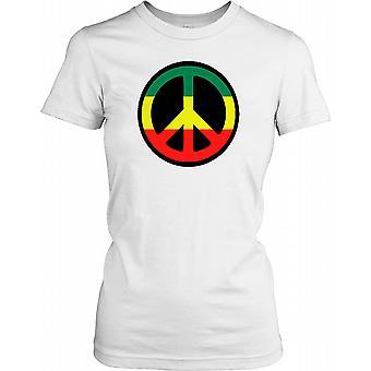 Rastafari Peace Symbol Damen T Shirt