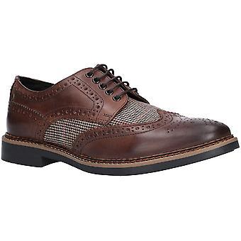 Base London Mens Rothko Waxy Tweed Brogue Oxford Shoes