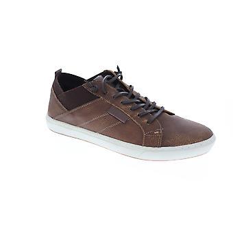 GBX wyjście mężczyźni Brown skórzane Low Top koronki up sneakers buty