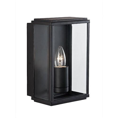 Searchlight 8204BK Outdoor Rectangular Box Modern Black Wall Light IP44