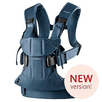 BABYBJ�RN Baby Carrier One, Cotton Mix, Classic Denim/Midnight Blue, 2018 Edition