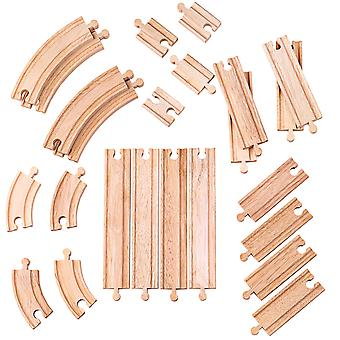 Bigjigs Rail Wooden Curves and Straights Railway Track Expansion Pack Compatible
