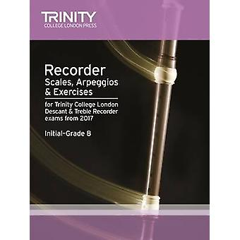 Recorder Scales - Arpeggios & Exercises Initial Grade 8 from 2017 - 9