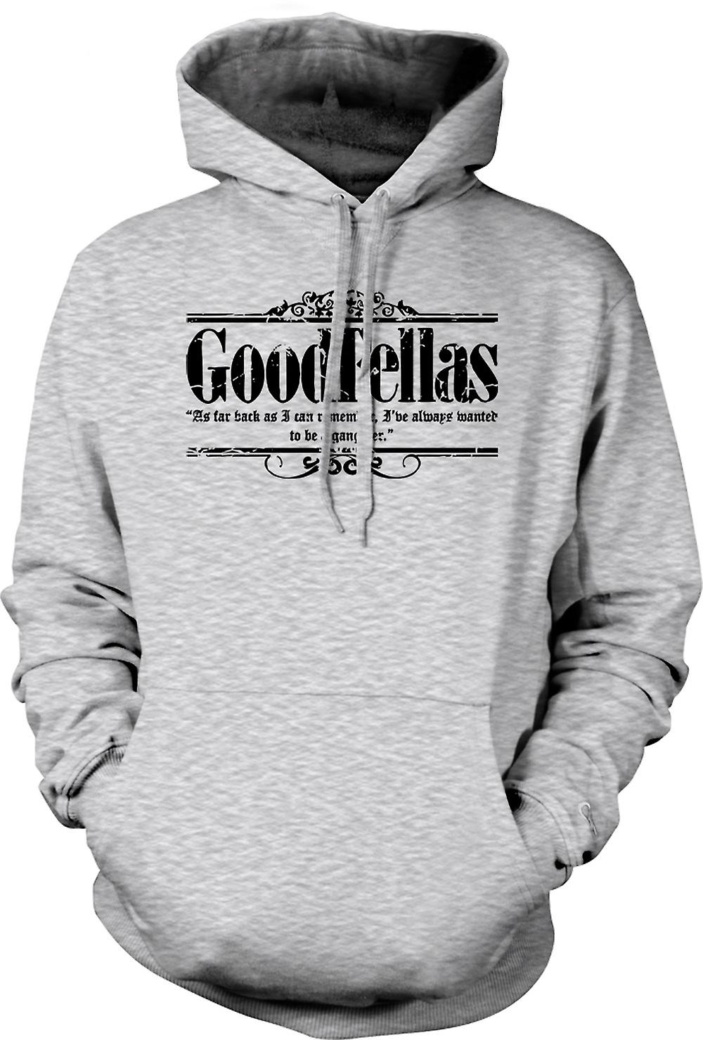 Mens Hoodie - Always Wanted Gangster