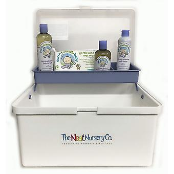 Baby Bathtime Pre Filled Baby Box Blue Organiser With Earth Friendly Baby Bath Set