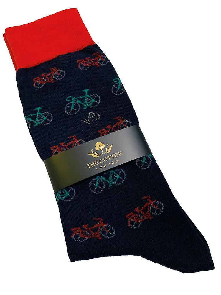 Country themed fox motif on our soft cotton socks