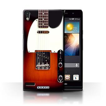 STUFF4 Case/Cover for Huawei Ascend P6 3G/Sunburst Electric/Guitar