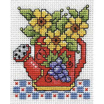 Watering Can Counted Cross Stitch Kit-2.5