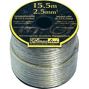 Cable de parlante 1 x 2.50 mm² plata Sinuslive
