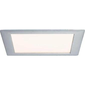 Recessed panel Premium Line 15 W LED brushed aluminium Warm white, square, 1 pc. set 1x15 W, 15 VA, 350mA, incl. bulb