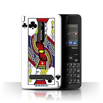 STUFF4 Case/Cover for Nokia Asha 210/Jack of Clubs/Playing Cards