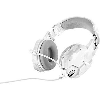 Gaming headset 3.5 mm jack Corded, Stereo Trust GXT 322W Over-the-ear White, Camouflage