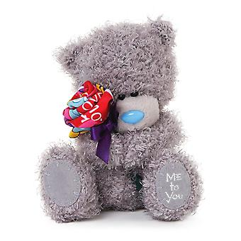Me To You 6-inch Tatty Teddy Bear Holding a Rose (Grey)