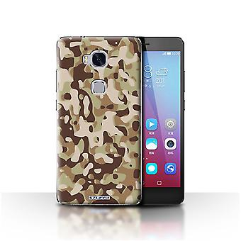STUFF4 Case/Cover for Huawei Honor 5X/GR5/Brown 3/Camouflage Army Navy