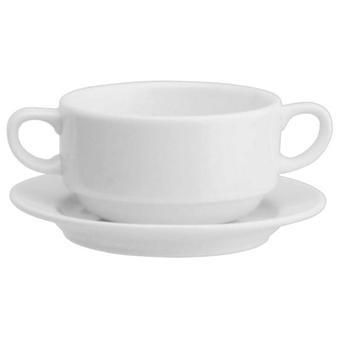 Avet Cup consomme With 310 Ml Plate Set of 6