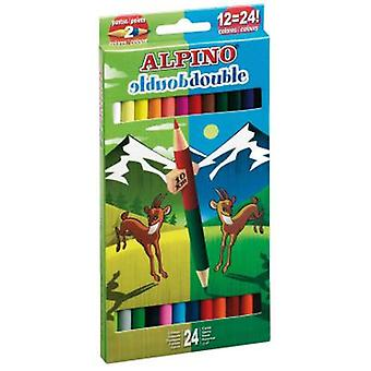 Alpino Box 12 Double Pencils Punta