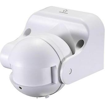 Surface-mount, Structure, Wall HF motion detector Renkforce 1362991 180 ° Relay White IP44