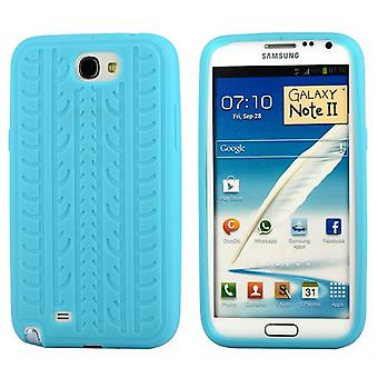 Cover with standard tire in silicone, for Samsung Galaxy Note 2 (light blue)