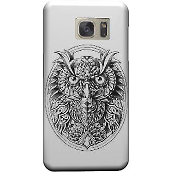 Owl portrait cover for Galaxy S7 Edge