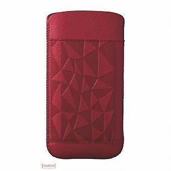 Ozaki coat nature red rock leather case iPhone 5 5 S OC551RO