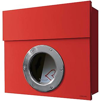 RADIUS Letterman 1 mail box red with porthole 506r