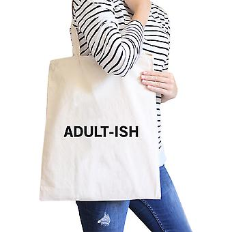 Adult-ish naturlige Bag Trendy Varsity lerretssekker For College Student