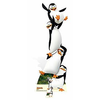 Madagascar Penguins Topsy Turvy Cardboard Cutout / Standee / Stand Up