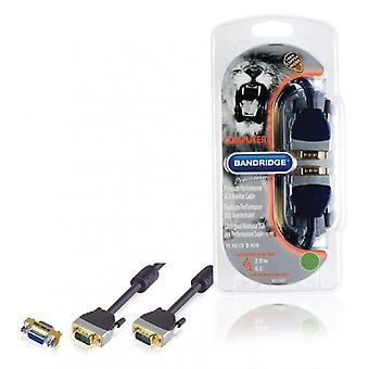 Bandridge VGA cable VGA male VGA male Black