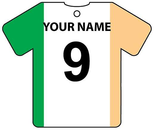 Personalised Ireland Flag Jersey Car Air Freshener