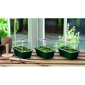 Mini High Dome Propagator Set of 3 Home Planting Gardening