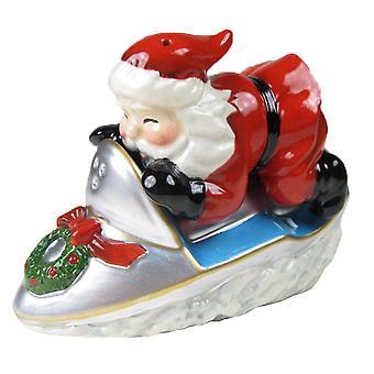 Santa ridning snescooter ferie Salt og peber Shakers