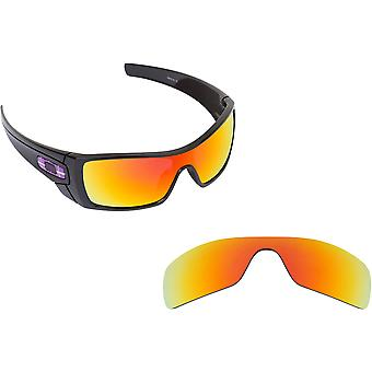 New SEEK Replacement Lenses for Oakley Sunglasses BATWOLF Grey Red Mirror