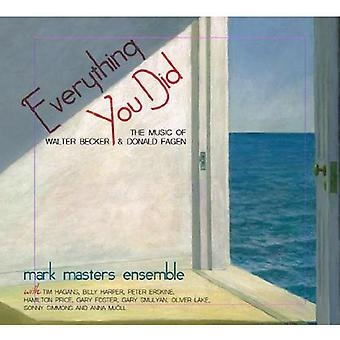 Mark Masters Ensemble - Everything You Did [CD] USA import