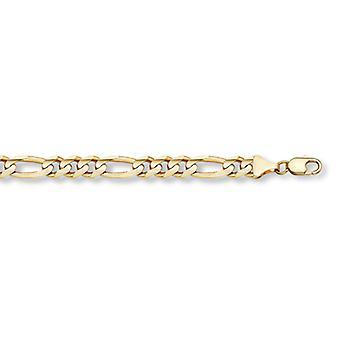 Bransoleta 14K Gold Figaro Link (11mm)
