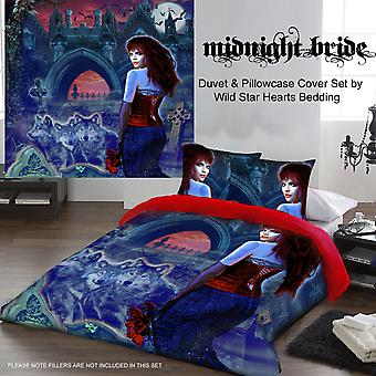 MIDNIGHT BRIDE - Duvet & Pillows Covers Set Double
